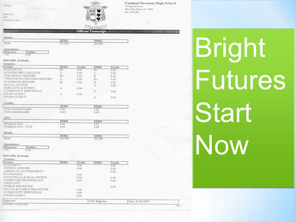 Bright Futures Start Now