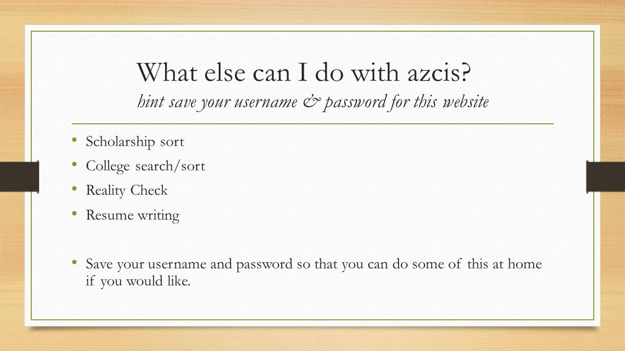 What else can I do with azcis.