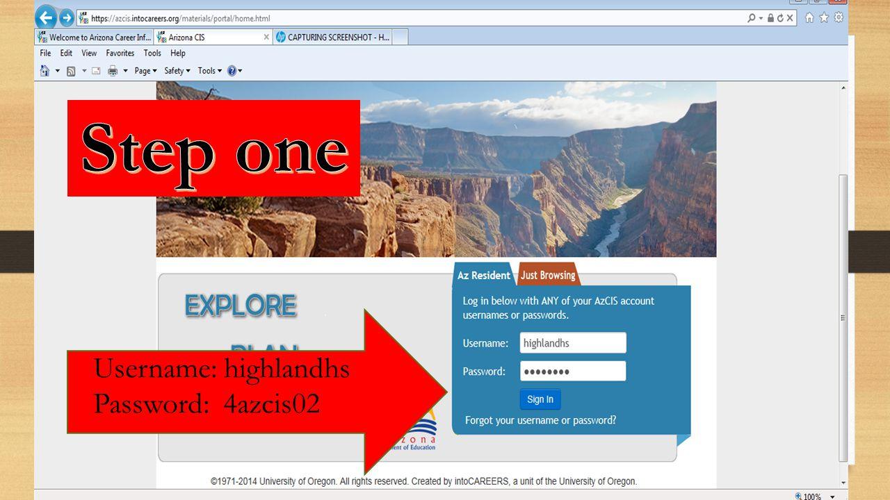 Username: highlandhs Password: 4azcis02