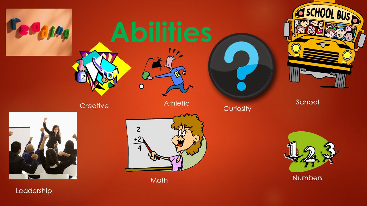 Abilities Athletic Creative Leadership Math Numbers School Curiosity