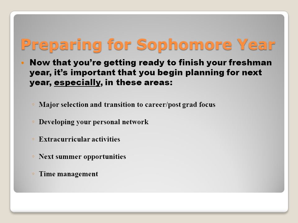 Avoiding The Sophomore Slump It might be harder to do than it seems.