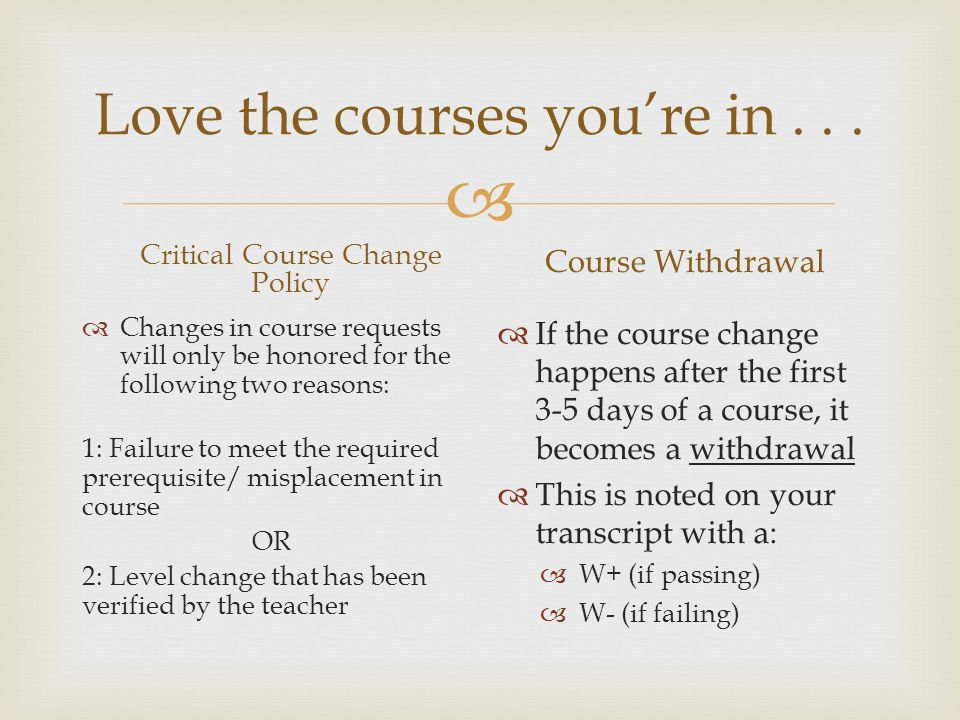  Love the courses you're in...