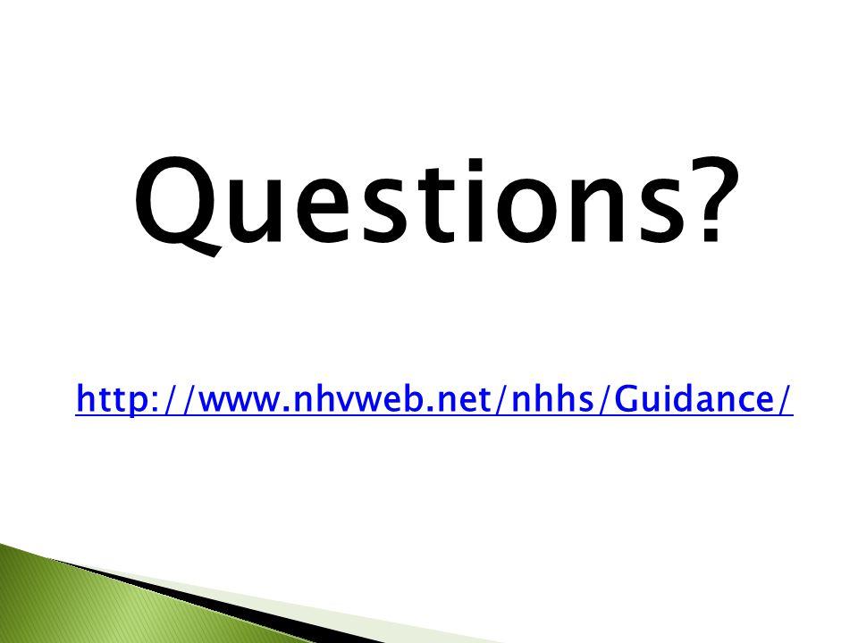 Questions http://www.nhvweb.net/nhhs/Guidance/