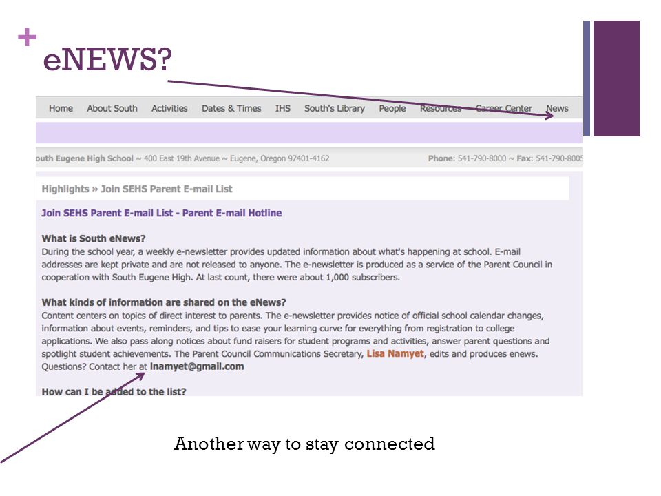 + eNEWS Another way to stay connected