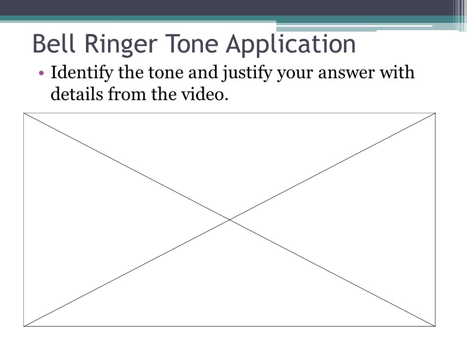 Bell Ringer Tone Application Identify the tone and justify your answer with details from the video.