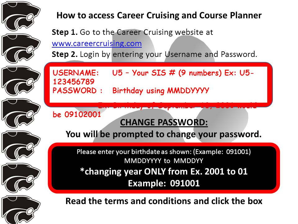 Step 1. Go to the Career Cruising website at www.careercruising.com Step 2.