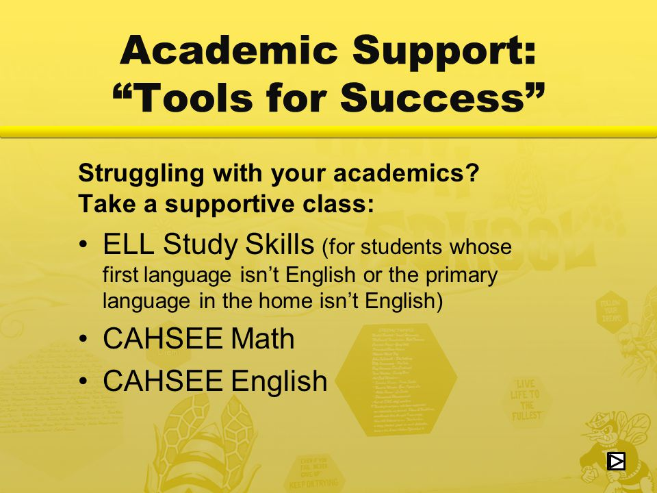 Academic Support: Tools for Success Struggling with your academics.