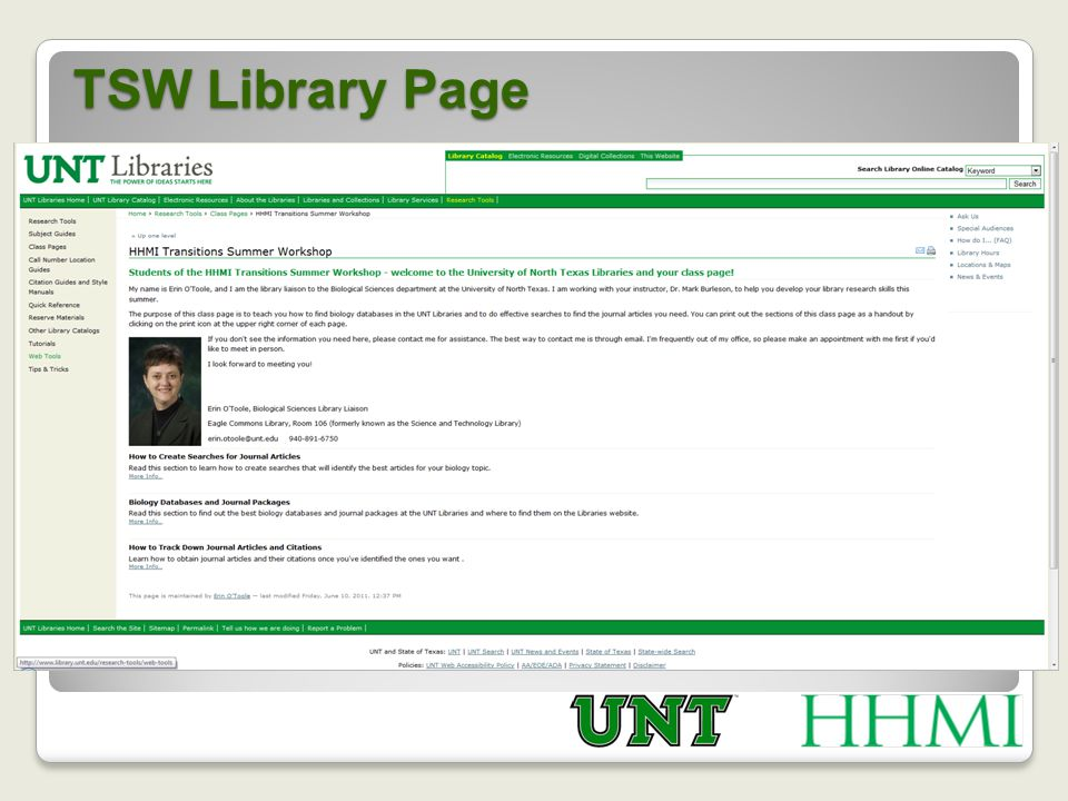 TSW Library Page