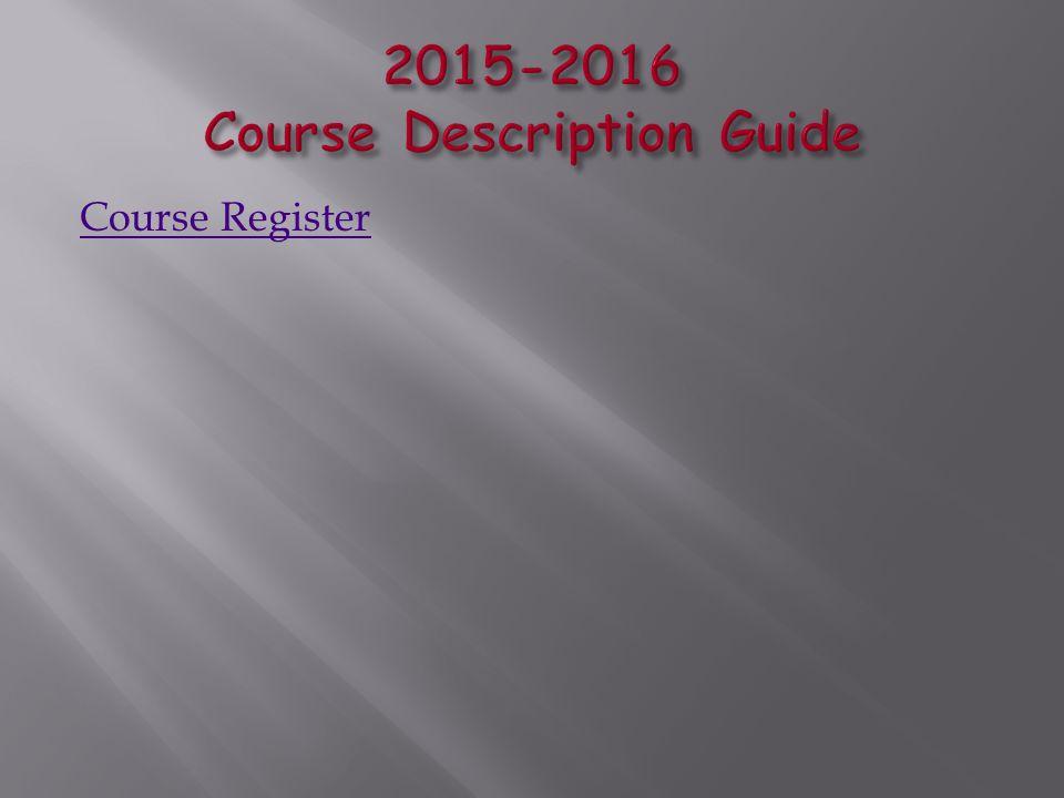 Course Register