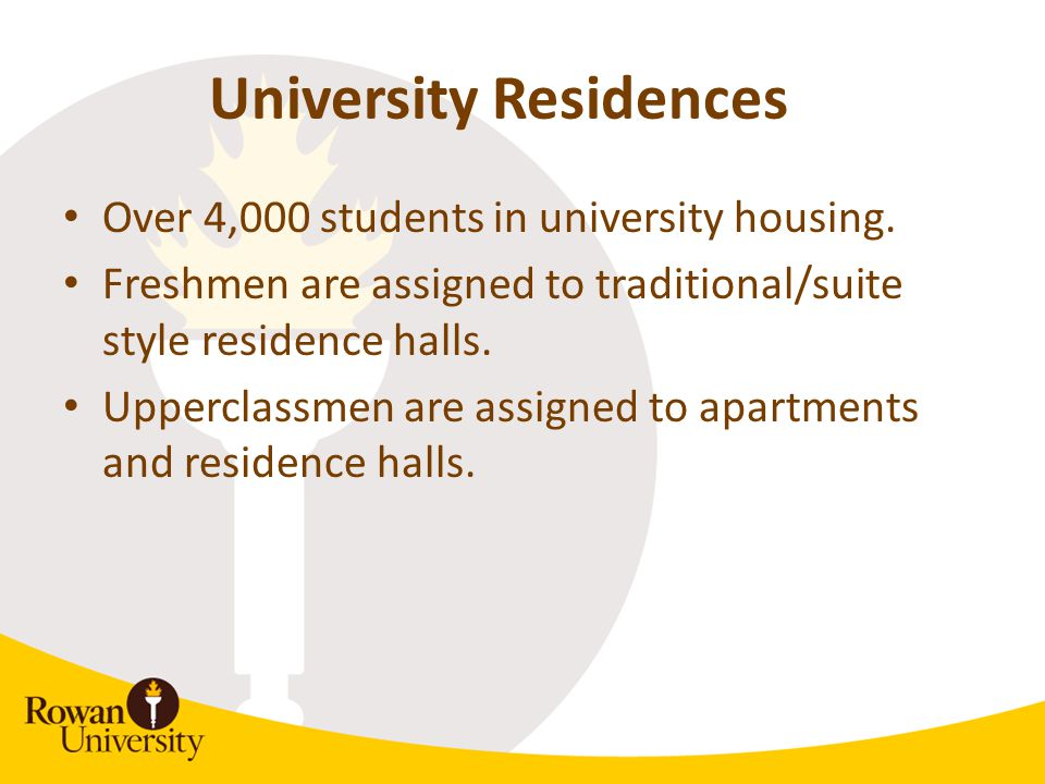 Benefits of Living On-Campus Students who live on campus… Develop greater sense of belonging to the university.
