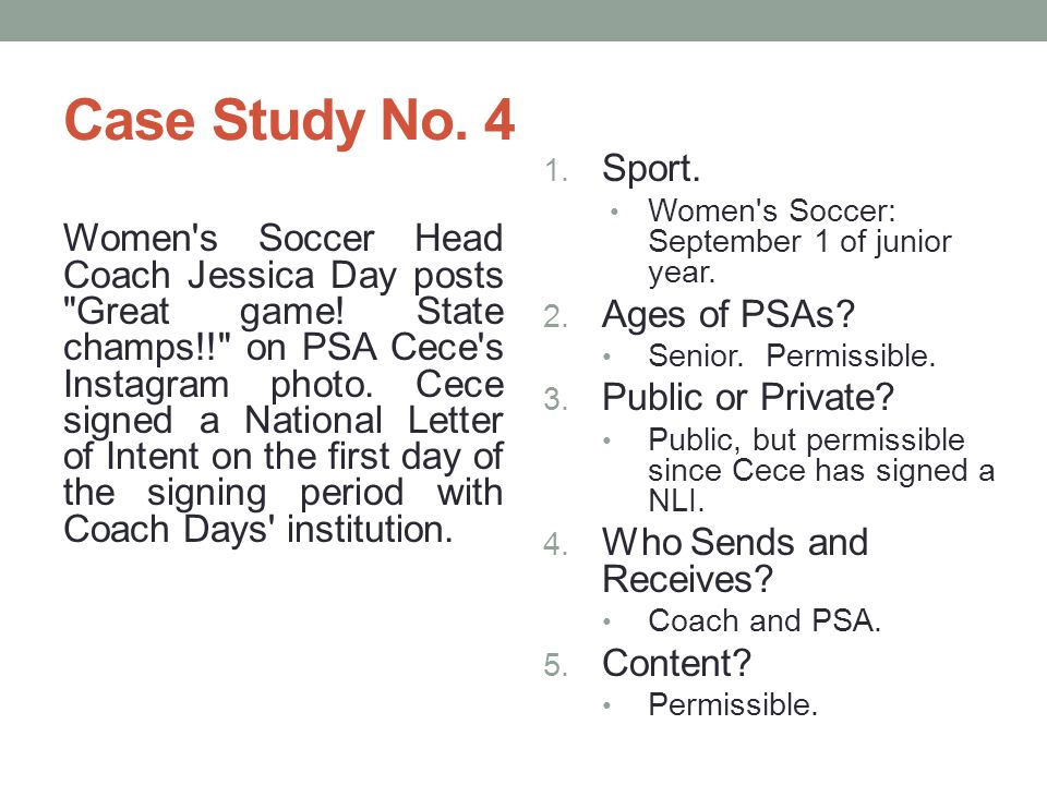 Case Study No.4 Women s Soccer Head Coach Jessica Day posts Great game.