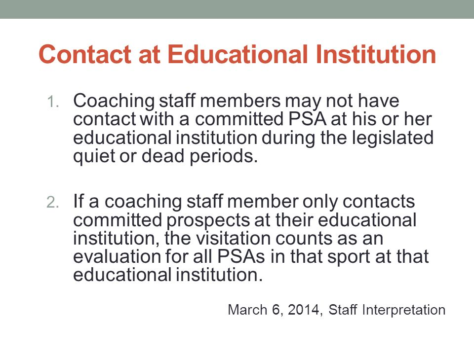 Contact at Educational Institution 1.