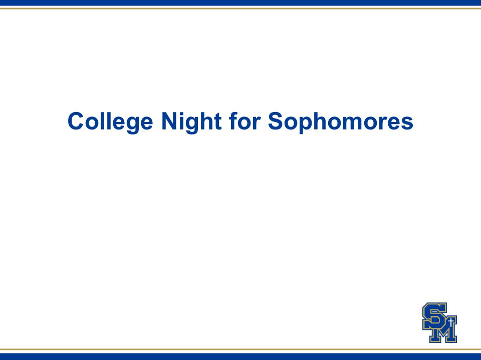 College Night for Sophomores