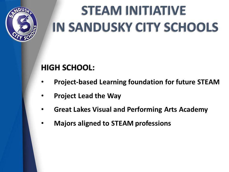 STEAM INITIATIVE IN SANDUSKY CITY SCHOOLS IN SANDUSKY CITY SCHOOLS HIGH SCHOOL: Project-based Learning foundation for future STEAM Project Lead the Wa