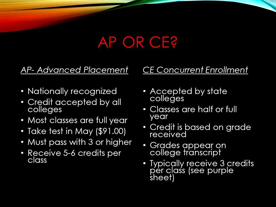 AP OR CE.