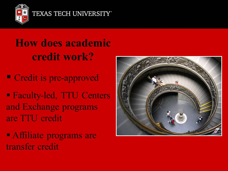 How does academic credit work.