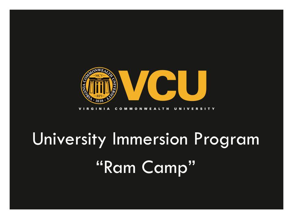 University Immersion Program Ram Camp