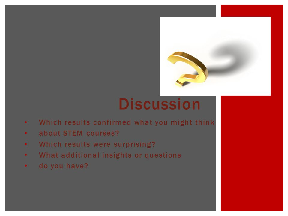 Which results confirmed what you might think about STEM courses.