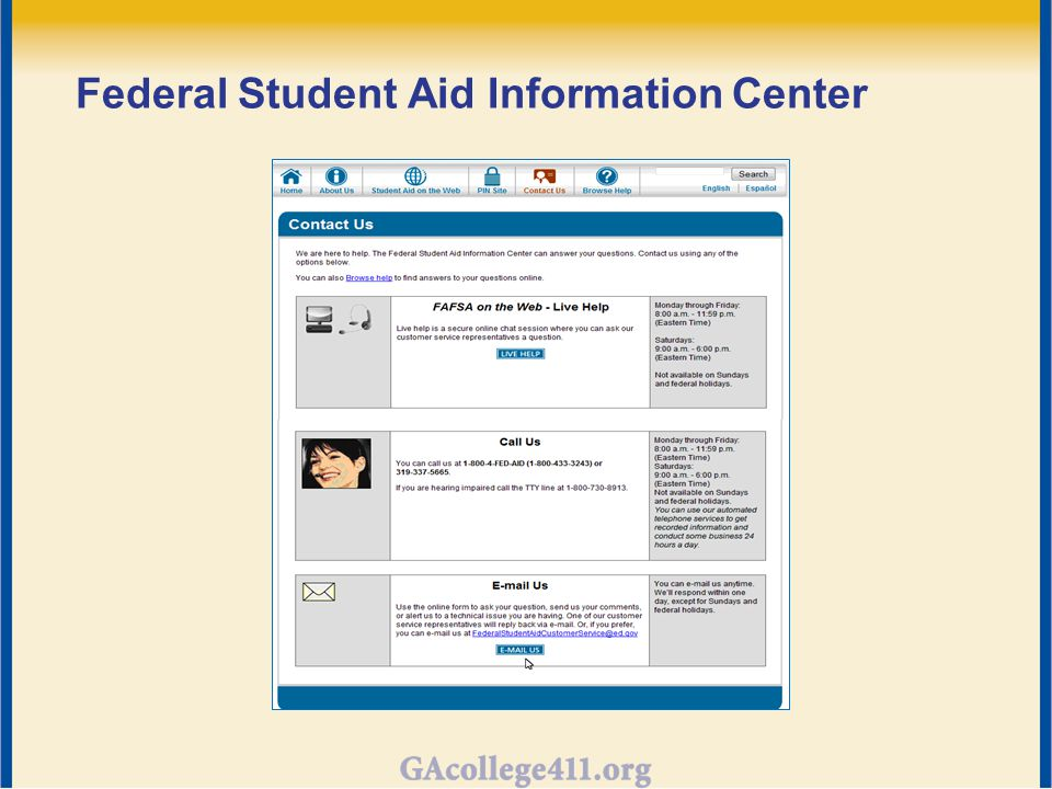 Federal Student Aid Information Center
