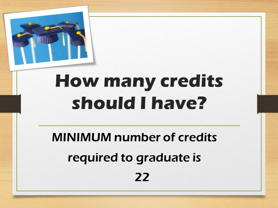 How many credits should I have MINIMUM number of credits required to graduate is 22