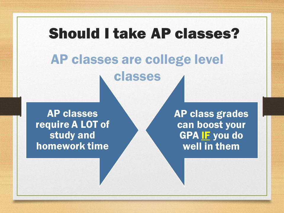 Should I take AP classes.