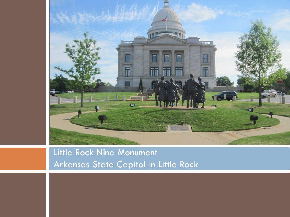 Little Rock Nine Monument Arkansas State Capitol in Little Rock