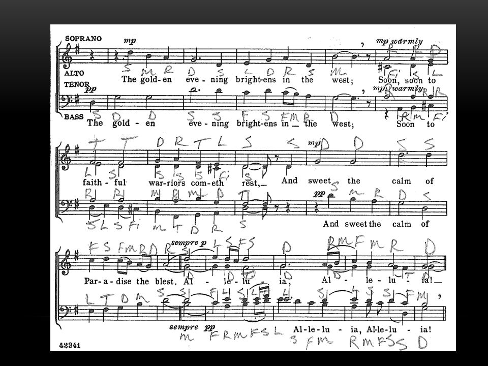EXAMPLE - SATB For all the Saints arr. Robert Shaw