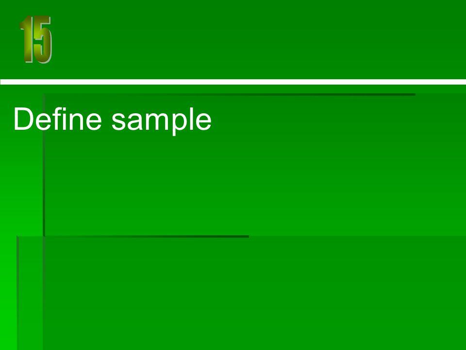 Define sample