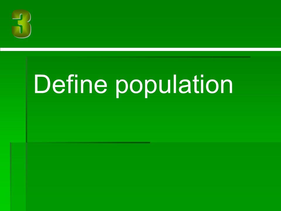 Define population