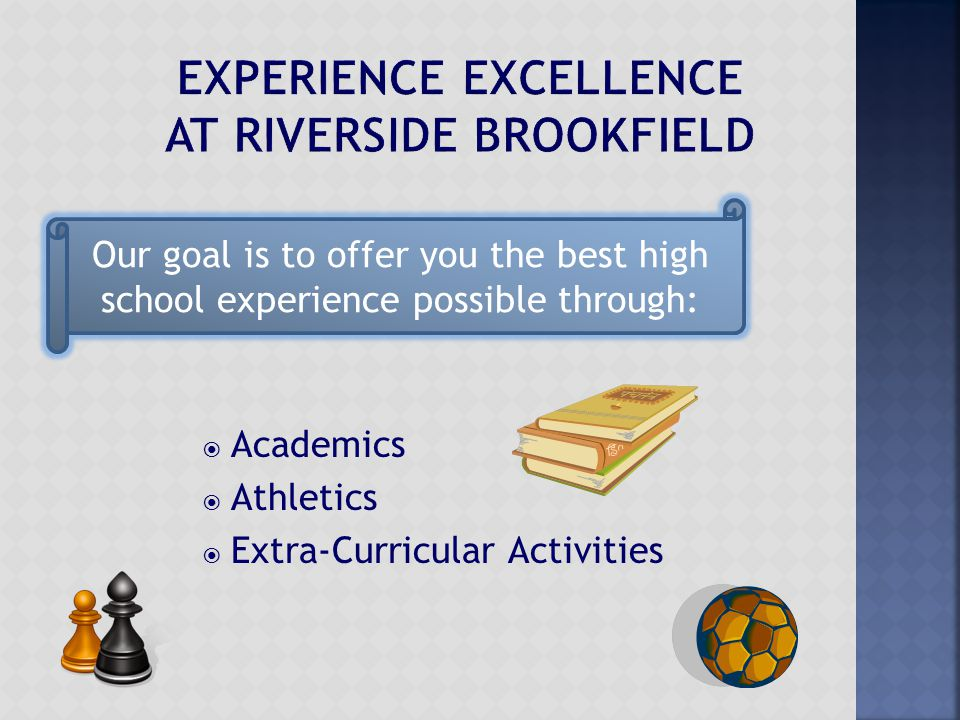  Academics  Athletics  Extra-Curricular Activities Our goal is to offer you the best high school experience possible through: