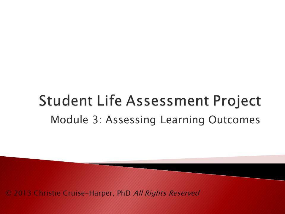 ToolMethodDomainUsage TypeBloom's Level EssayDirectCognitive, Affective Formative, Summative All levels PortfolioDirectCognitive, Psychomotor SummativeVariable Satisfaction Survey IndirectAllSummativeComprehension, Application, Analysis, Synthesis, Evaluation The complete list can be found at: http://assessment.uconn.edu/docs/Choosing_the_Right_Assessment_Tool.pdf Example Assessment Tools