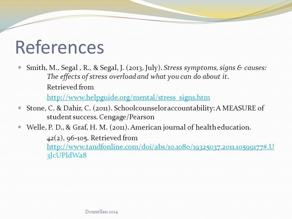 References Smith, M., Segal, R., & Segal, J. (2013, July).