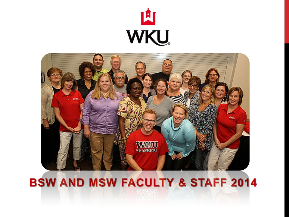 BSW AND MSW FACULTY & STAFF 2014