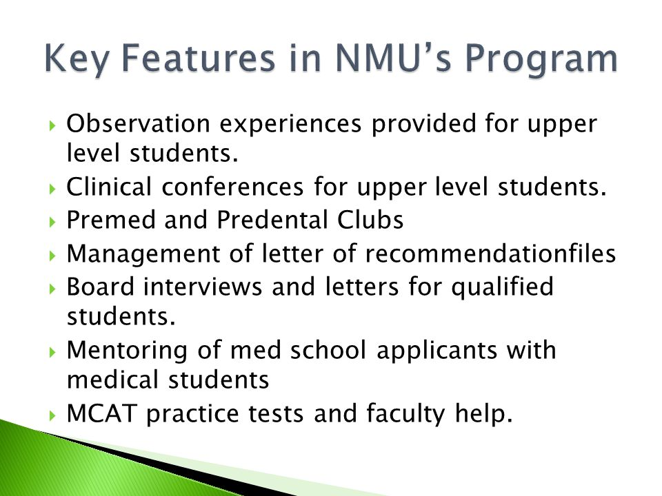  Observation experiences provided for upper level students.