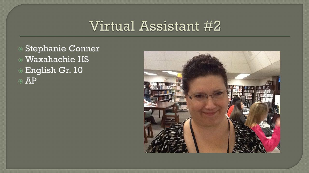  Stephanie Conner  Waxahachie HS  English Gr. 10  AP