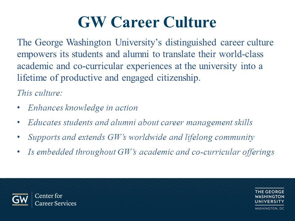 Colonial Crossroads – Marvin Center 505 http://gwired.gwu.edu/career gwcareercenter@gwu.edu 202.994.6495 Questions?