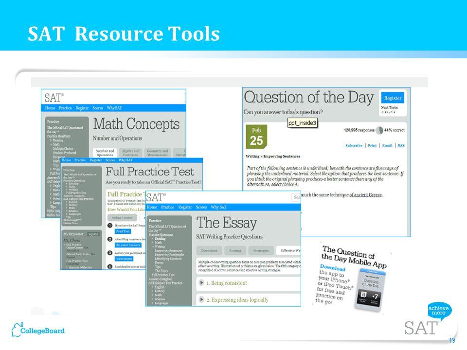 SAT Resource Tools 19