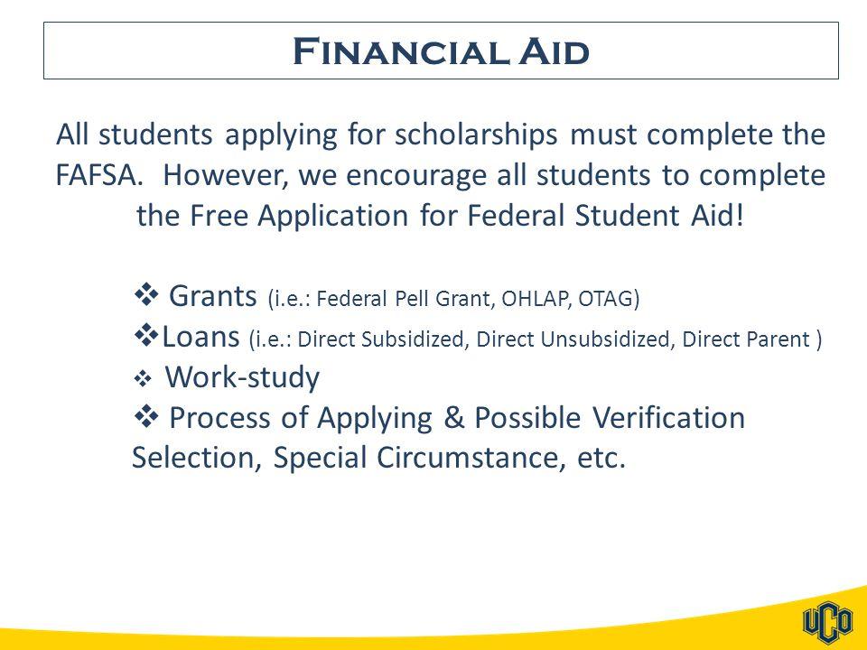 Stacy McNeiland, Director Recruitment & Scholarships (405) 974-2597 smcneiland@uco.edu Carol Dean, Assistant Director Federal Work-Study & Scholarships (405) 974-3334 cdean@uco.edu