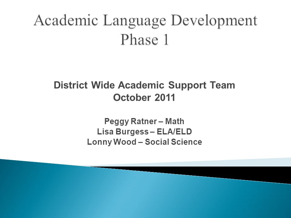  Of what use is Academic Language acquisition.Does it vary by content.