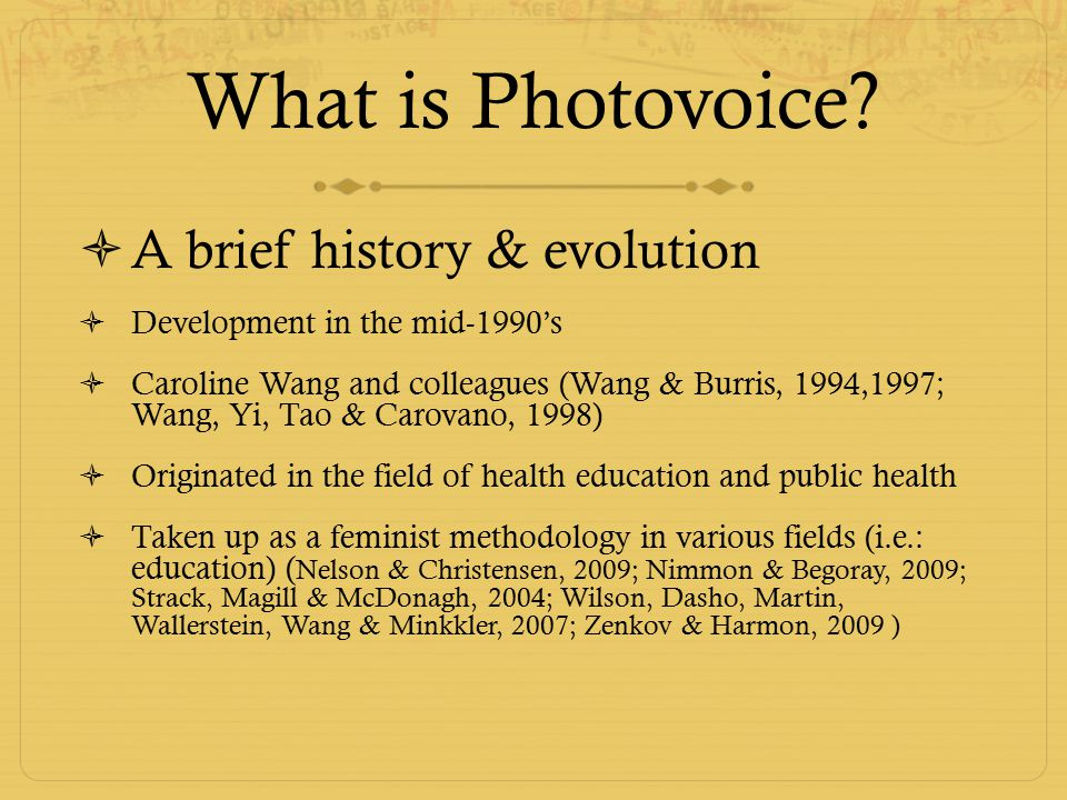 What is Photovoice.