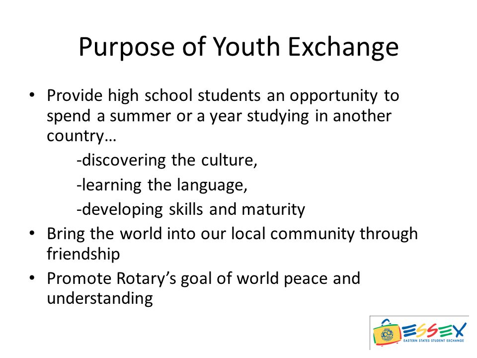 Types of Youth Exchange Short Term Long Term Outbound Inbound