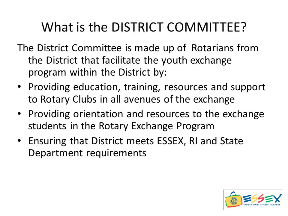 What is the DISTRICT COMMITTEE.