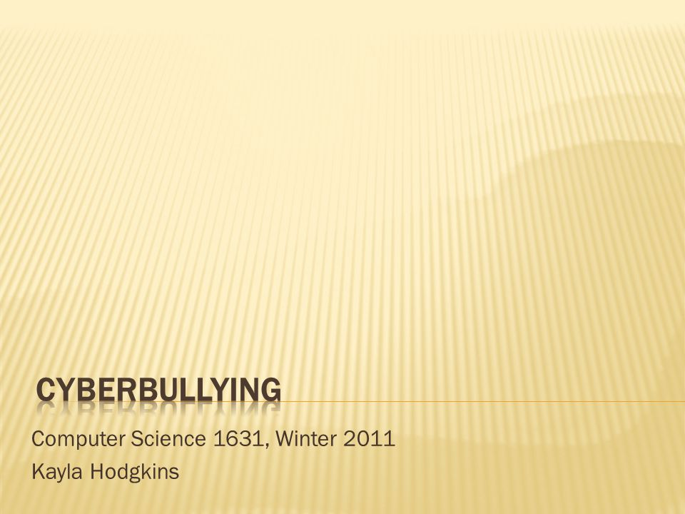 Cyberbullying can be the equivalent of social death for many young people.