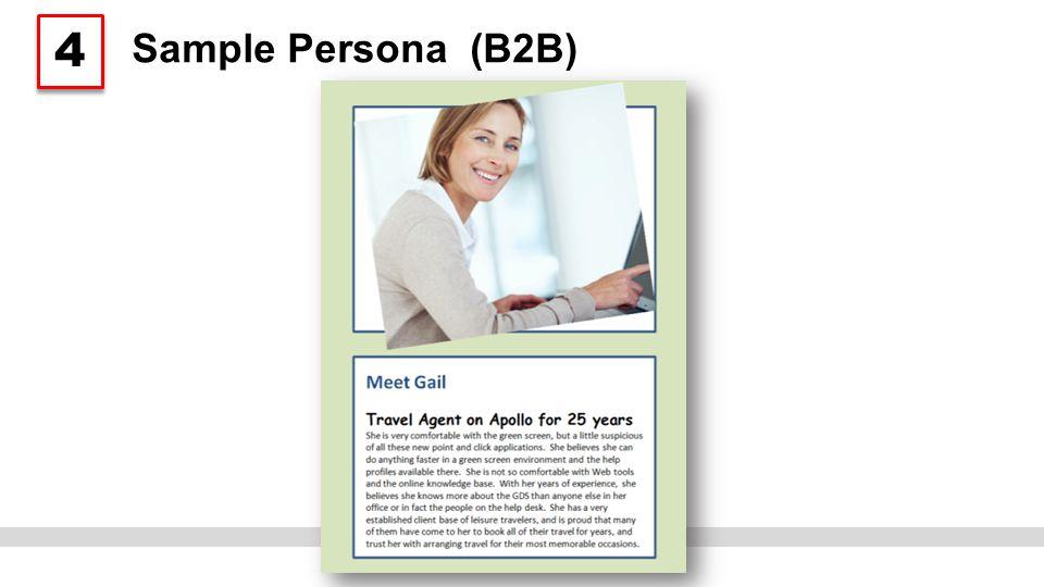Sample Persona (B2B) 4 4