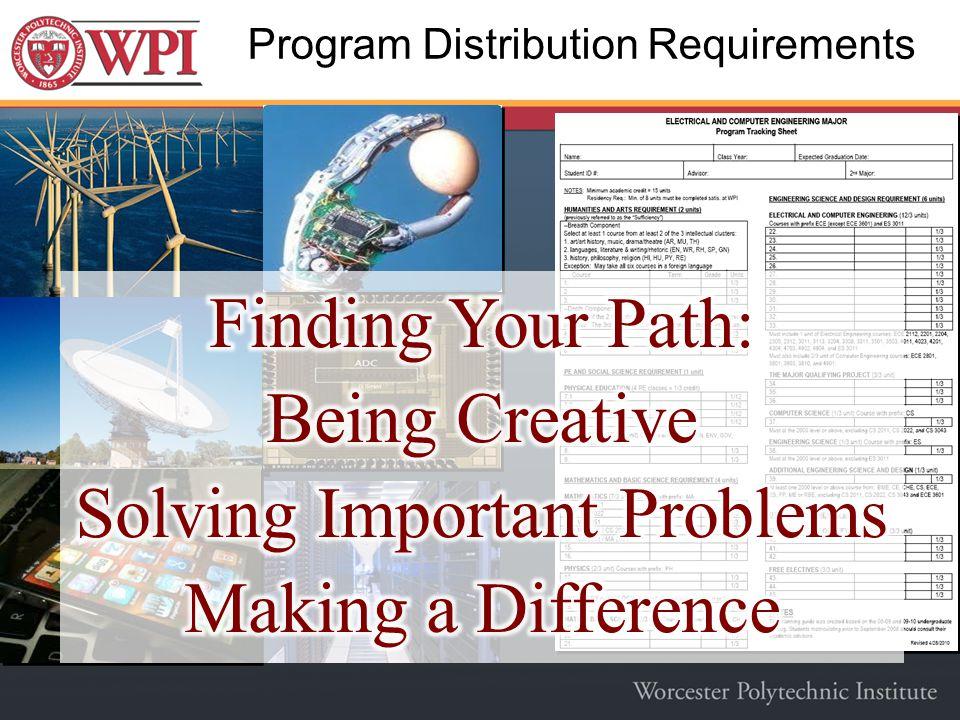Program Distribution Requirements