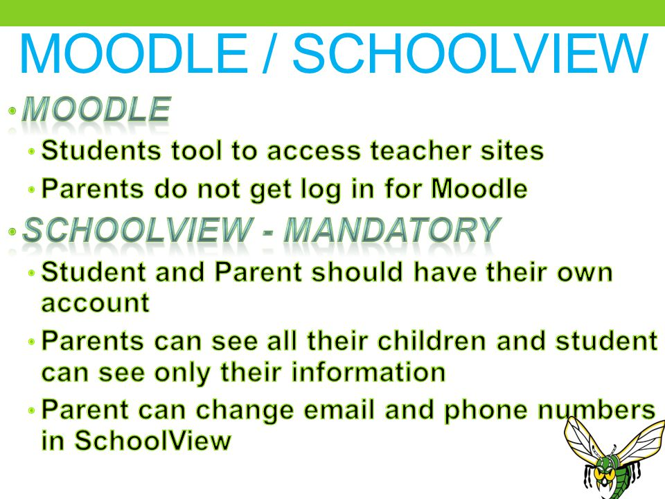 MOODLE / SCHOOLVIEW