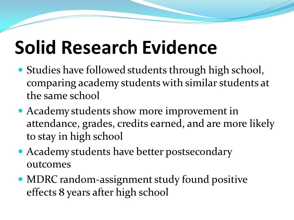 National Standards http://www.ncacinc.com/ Defined Mission & Goals Academy Structure Host District & High School Faculty & Staff Professional Development Governance & Leadership Curriculum & Instruction Employer, Higher Ed & Community Involvement Student Assessment Cycle of Improvement