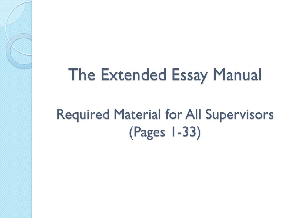 extended essay cover