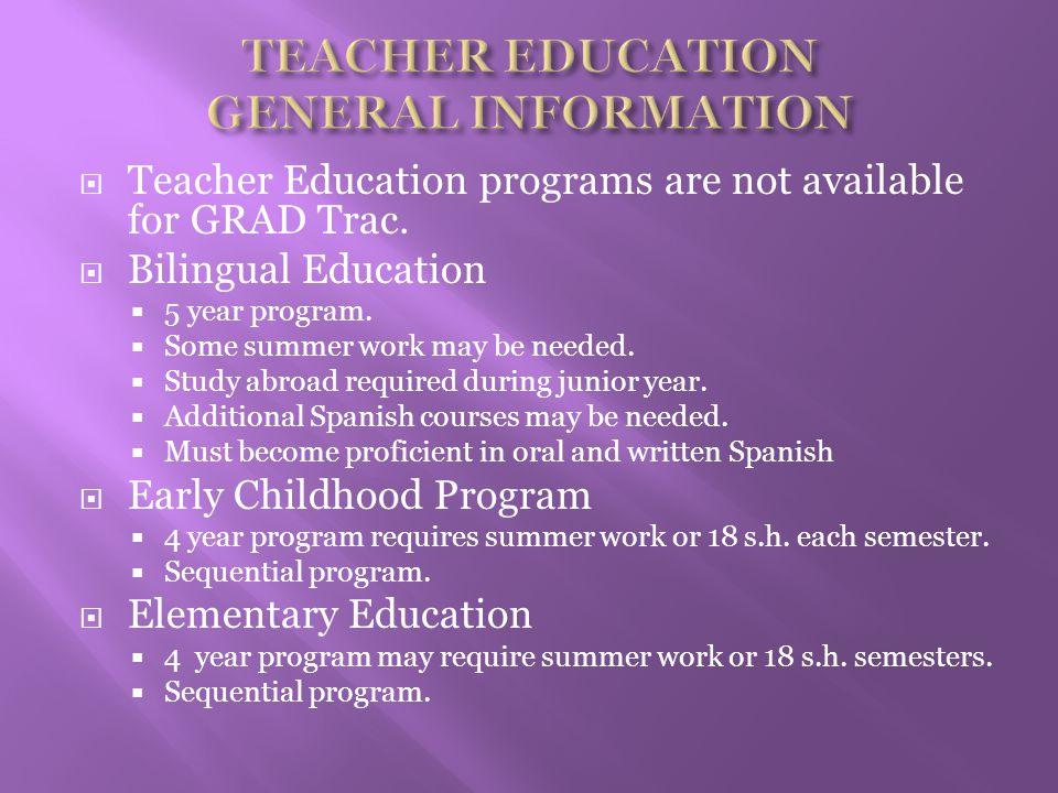  Special Education Program  K-High School  4 year program.
