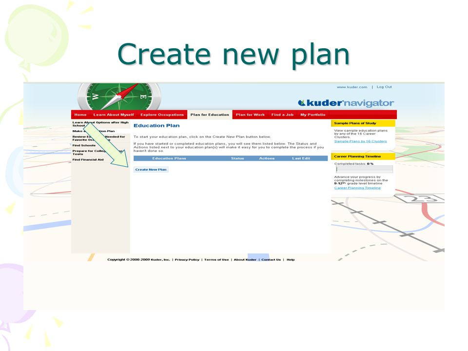 Create new plan